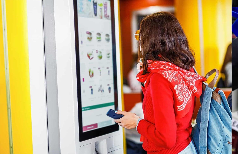 Safe touch montert på touch screen