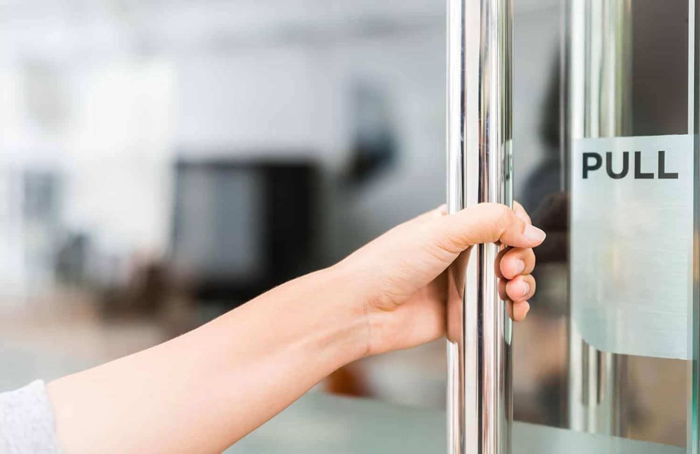 safeTouch dreper bakterier på dørhåndtak