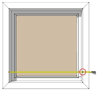 Måling av vinduer bredde